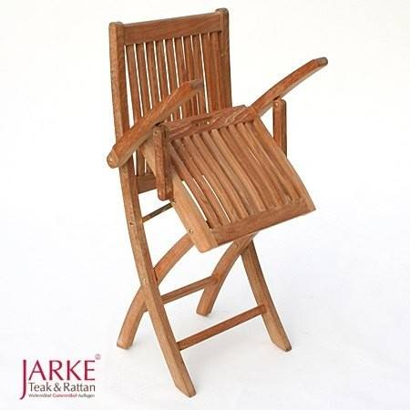 teak klappstuhl leicht und klappbar bei jarke teak gartenm bel. Black Bedroom Furniture Sets. Home Design Ideas