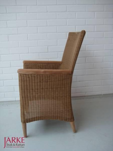 """Stuhl """"Avery"""" mit Teak-Armlehnen Einzelstück"""
