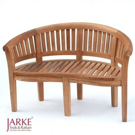 "Teak Halbmond Bank ""Romantika"" 130 cm"