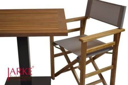 Teak Tisch mit Eisenfuß