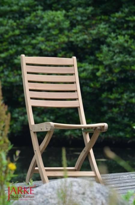 Teak Klappstuhl ohne Armlehne