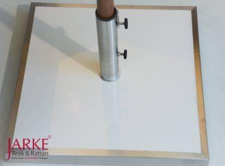 Designer Schirmfuß Keramik & Edelstahl, 50 kg - kein Versand