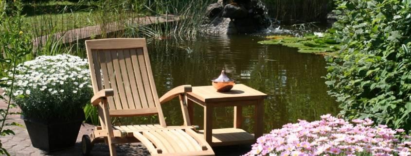 """Teak Deckchair """"Elbe"""" Premium/ Edelstahlscharniere"""