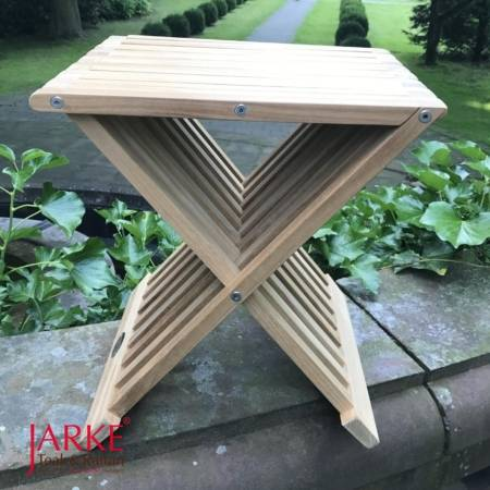 Teak Beistelltisch Fishing Table Hocker
