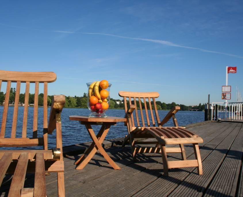 """Teak Deckchair """"Hamburg"""""""