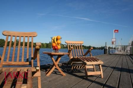 "Teak Deckchair ""Hamburg"" Messingscharniere"