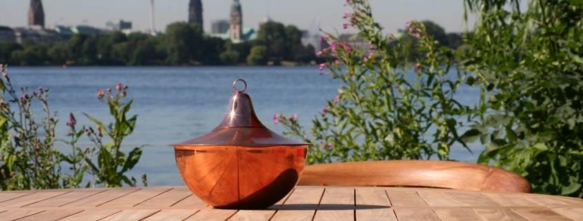 Kupfer Fackel für Tisch