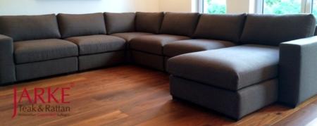 Sofa Eckgarnitur braun