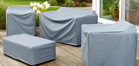 Atmungsaktive Schutzhauben für Gartenmöbel