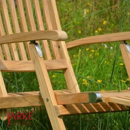 Teak Deckchair Elbe mit abnehmbaren Fußteil