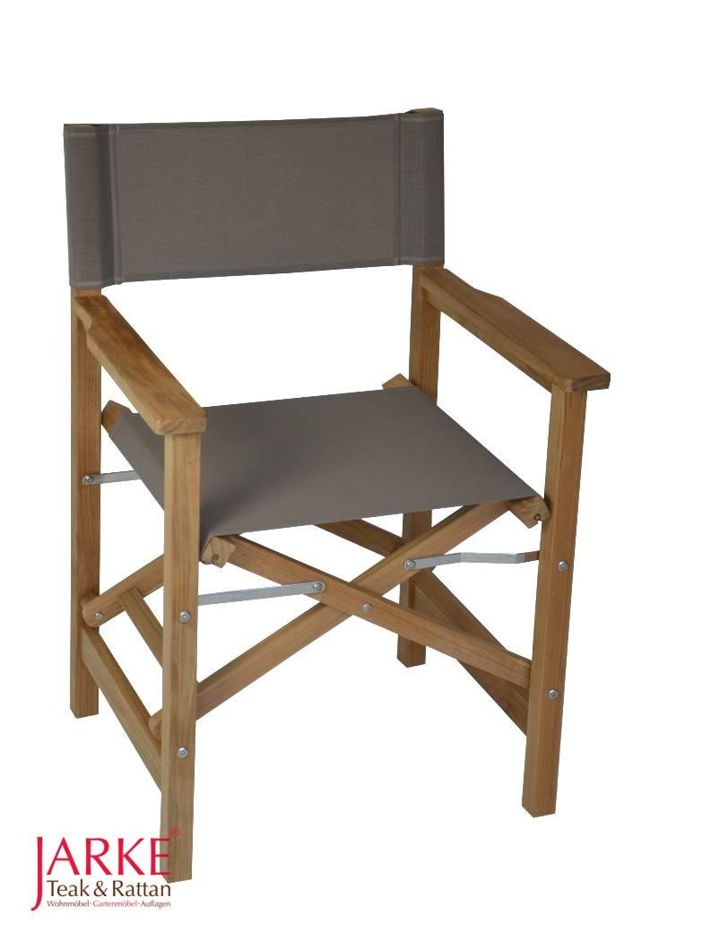 teak regiestuhl taupe bei jarke teak gartenm bel. Black Bedroom Furniture Sets. Home Design Ideas