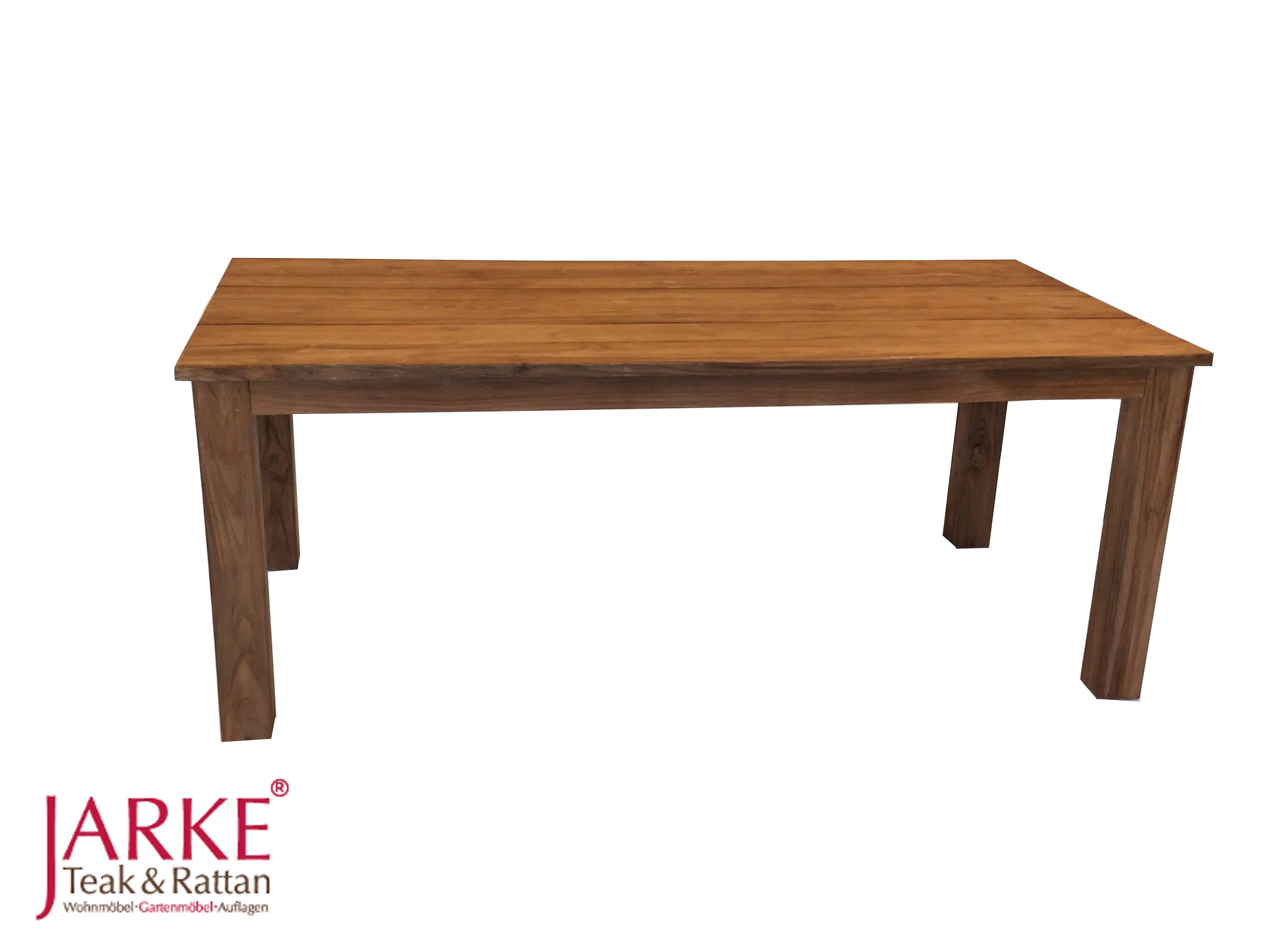 Tisch Mit Extra Breiter Lattung Von 32 Cm Aus Old Teak Bei Jarke