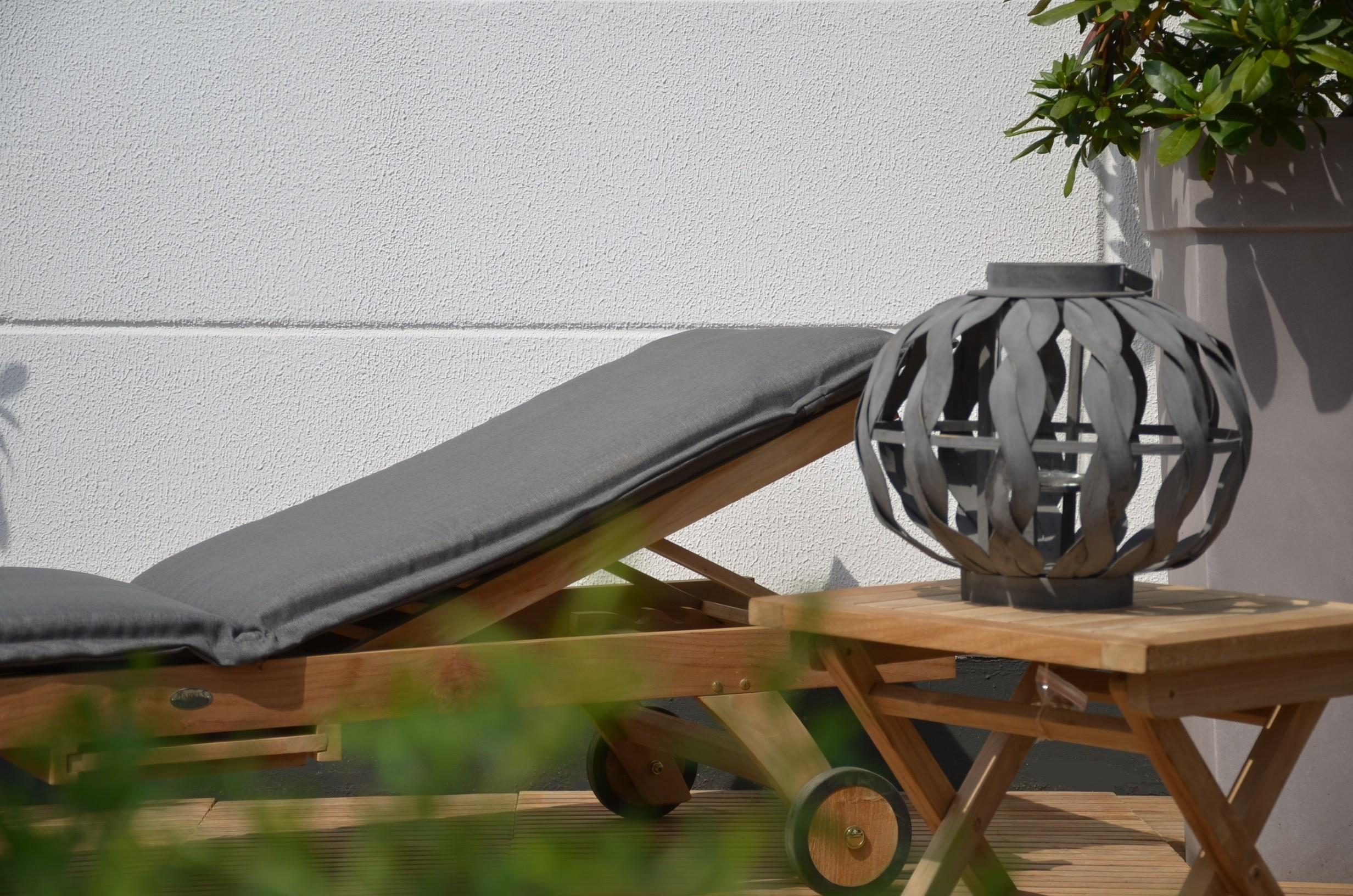 auflagen von jarke dick gepolstert mit rei verschluss in grau. Black Bedroom Furniture Sets. Home Design Ideas